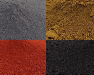 Dye Pigment Colour powder for Cement Concrete Mortar: Charcoal S.Black York Buff