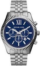 Reloj para hombres con Cronógrafo Michael Kors Lexington MK8280 Esfera Azul Rrp £ 279.00
