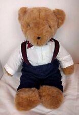 Vtg Teddy Bear 1979 North American Bear Co Pinstripe Pants Buttons Suspenders