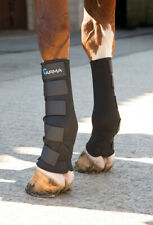 Shires Arma Horse Mud Socks, Turnout boots in Neoprene, Black