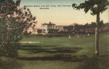 Bermuda Belmont Manor Golf Cloub Hand Colored Postcard #3 18th Fairway