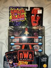 WCW Sting Smash 'N Slam NWO Red Variant Baseball Bat Attack Action Toybiz (MOC)