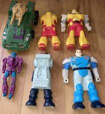 Vintage G1 Transformers Pretenders Lot Bumblebee Jazz Submarauder  Roadblock