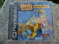Bob the Builder: Can We Fix It Sony PlayStation 1 PS1 2001  Video Game Complete