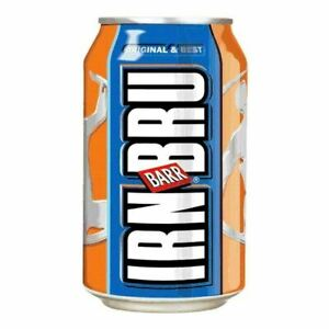 IRN BRU 330ml Pack of 24 Cans Soft Drink Can Fizzy Drinks