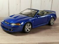 Maisto 2003 Ford SVT Mustang Cobra Convertible 1:18 Scale Diecast Model Car Blue