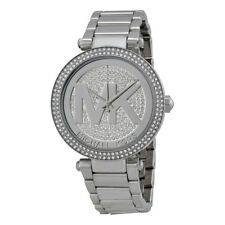 Michael Kors MK5925  Parker Oversized Glitz Silver-Tone Women's Watch