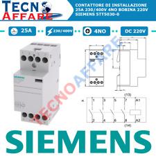 Contattore di Installazione 25A 230/400V 4NO Bobina 220V Siemens 5TT5030-0