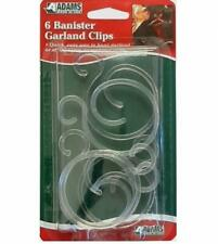 Adams Banister Garland  Clips for Hanging Christmas Decorations 6 Pack