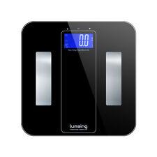 Smart Digital Bathroom LCD Weigh Body Scale Fat BMI 400lb/180kg Tempered Glass