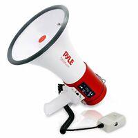 Pyle Megaphone 50 Watt Siren Bullhorn Speaker Detachable Microphone Cheerleading