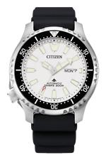 Citizen Promaster Fugo Left Crown Limited Edition White Dial Watch NY0118-11A