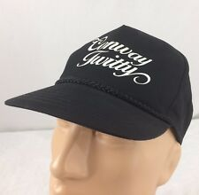 Vtg Conway Twitty Hat Snapback Black Cap Country Music Script