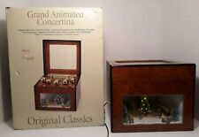Mr. Christmas Grand Animated Concertina Music Box, 50 Songs, Lights, Ice Skaters