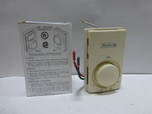 King Electric HE-1A European Style Single Pole Anticipated Thermostat, Almond