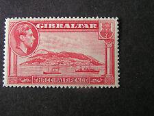 GIBRALTAR, SCOTT # 109 1 1/2p. VALUE, KGV1 1944 ISSUE MVLH