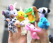 NEW 10X FARM ZOO ANIMAL FINGER PUPPETS TOYS BOYS GIRLS BABYS PARTY BAG FILLER T