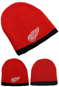 Detroit Red Wings New Adidas Knit Beanie Youth Toddler Red Black Era Hat Cap