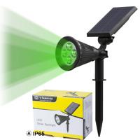 Solar Power Garden Lamp Spot Light 4LED Green Outdoor Landscape Path Spotlight
