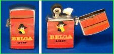 1960's BELGA CIGARETTES MINIATURE FLIP-TOP Mini LIGHTER Working from JAPAN NOS