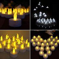 12X LED Solar Power Teelicht Kerze Flimmern Flameless Lampen Weihnachten-De K3E9