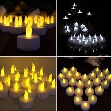 12X LED Solar Power Teelicht Kerze Flimmern Flameless Lampen Weihnachten Dekor/