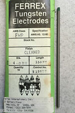 1 -electrode Welding TUNGSTEN PURE GREEN TIG de 0 5/32x5 29/32in Made in USA
