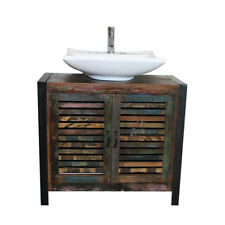 Recuperata in legno bagno unità 2 porte con grande scelta di ceramica bianco bacino