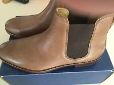BNIB Ralph Lauren POLO DILLIAN II Chelsea Leather Boots Tan. UK 8  EU 42.