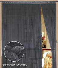Fadenvorhang 150 cm x 300 cm (BxH) grau