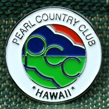 """Rare_Limited Edition_ Pearl Country Club Hawaii 1"""" Ni-Silver Plated Ball Marker"""