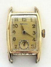 Vintage HAMILTON 1940's 10k gold filled  Wristwatch * KEEPS TIME