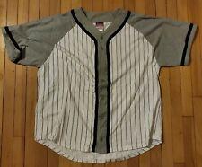 Vintage Champion Mens Baseball Jersey Shirt XXXL 3XL Stripped