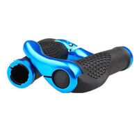 Blue Cycling Lock-On Handlebars Rubber Mountain MTB Bike Bicycle Bar Grips Ends