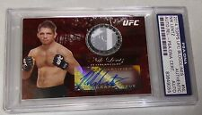 Nik Lentz Signed UFC 2014 Topps Bloodlines Auto Relic Red Card PSA/DNA #1/8 Ruby