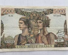 Billet 5000 Francs Terre Et Mer TTB/SUP