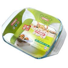 Tegame quadrato con maniglie in vetro Pyrex 24x24cm 2,4lt per cottura forno