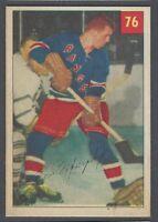 1954-55 Parkhurst New York Rangers Hockey Card #76 Ron Murphy RC