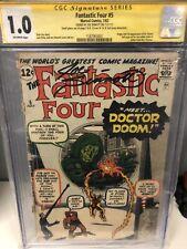 Fantastic Four #5 (1962, Marvel) 1st Dr. Doom, CGC Signed Joe Sinnott, Mega Key