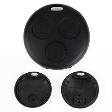 2x Coque 3 Boutons Vierge Noir pour Cle Clef Smart ForTwo Forfour Roadster