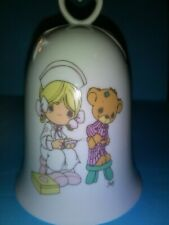 Precious Moments 1994 Porcelain Heart Handled Bell New in Box