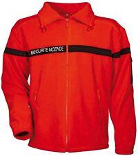 Blouson veste polaire pour agent de sécurité incendie SSIAP