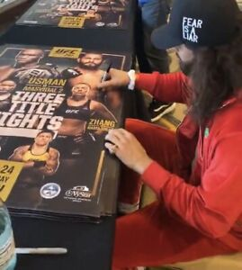 **SOLD OUT** UFC 261 EVENT EXCLUSIVE PPV AUTOGRAPHED POSTER, JORGE MASVIDAL, SBC
