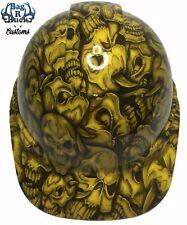 New listing Hard Hat High Gloss Yellow Insanity Skulls 6 Point Ratchet Suspension