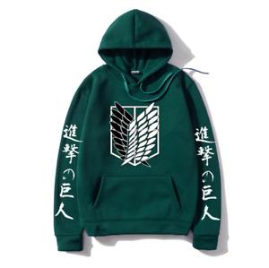 Attack On Titan Hoodie Wings Of Freedom Eren Levi Mikasa Sweatshirt Pullover