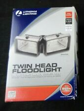 New listing Lithonia Mini Twin-Head Flood Light 150-Watt Double Ended Quartz Halogen