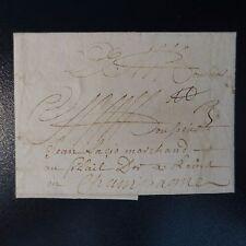 1698 LETTRE COVER ROUEN POUR REIMS PAR PARIS RARE COMBINAISON PORT PAYÉ PORT DU