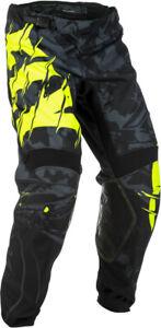 Fly Racing Kinetic Outlaw MX Off-Road Motocross Pants Black/Hi-Vis