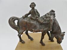BRONZE enfant sur cheval 19eme