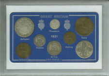 More details for 1921 gb great british vintage antique coin set (100th birthday gift birth year)